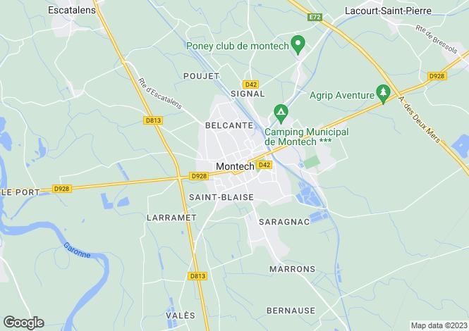 Map for Secteur: Montech, Tarn-et-Garonne