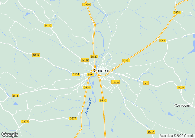 Map for condom, Gers, France