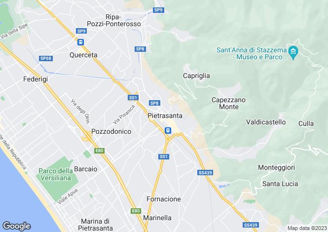 Map for Villa Anna, Pietrasanta, Tuscany, Italy