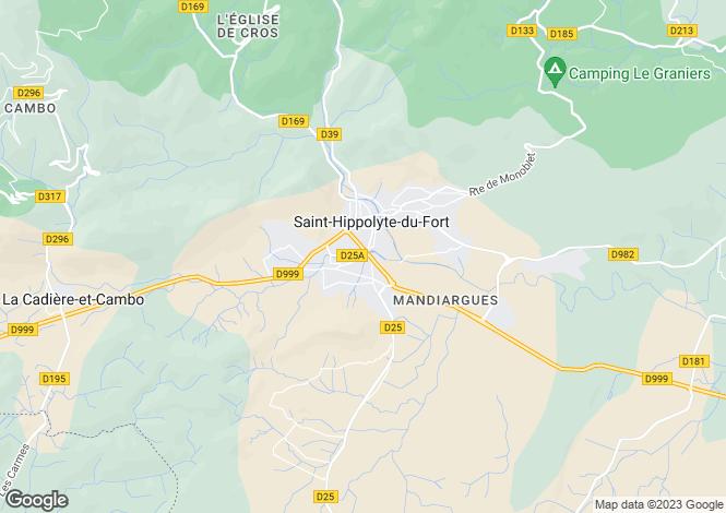 Map for st-hippolyte-du-fort, Gard, France