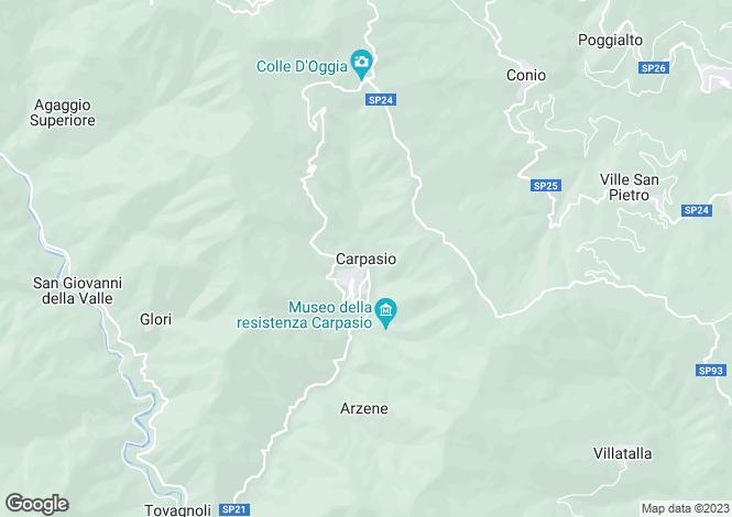 Map for Carpasio, Imperia, Liguria