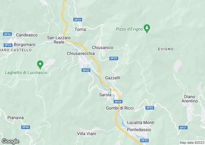 Map for Chiusavecchia, Imperia, Liguria