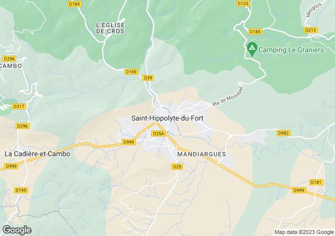 Map for Secteur: Saint Hippolyte du Fort, Gard