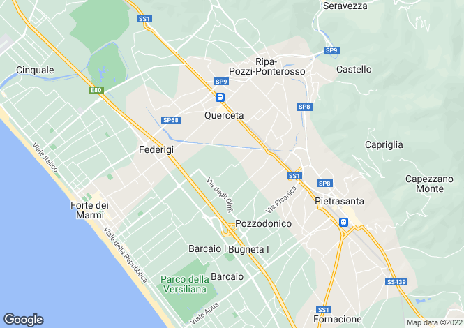 Map for Tuscany, Lucca, Pietrasanta