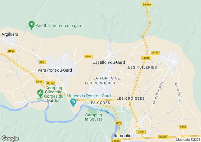 Map for castillon-du-gard, Gard, France