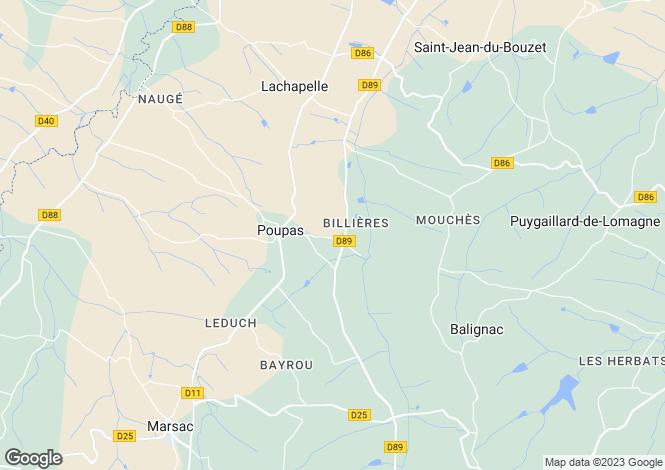 Map for Midi-Pyrenees, Tarn-et-Garonne, Poupas