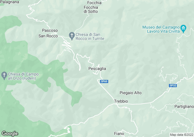 Map for Pescaglia, Tuscany, Italy