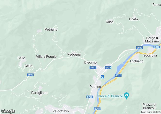 Map for Borgo a Mozzano, Lucca, Tuscany