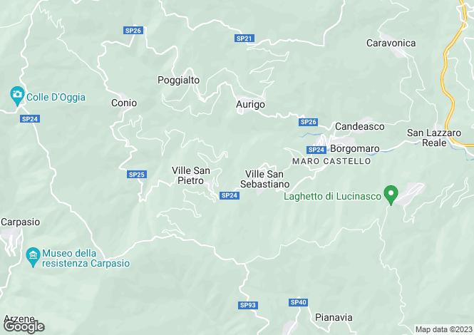 Map for Liguria, Imperia, Borgomaro