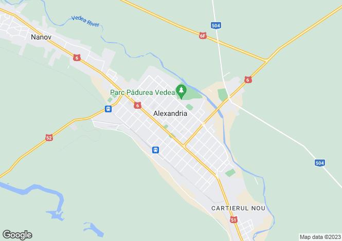 Map for Teleorman, Alexandria