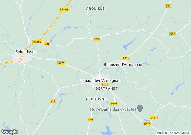 Map for labastide-d-armagnac, Landes, France