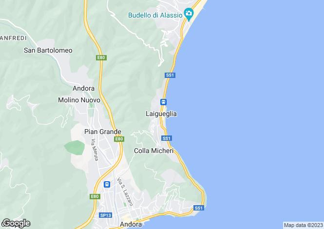 Map for Liguria, Savona, Laigueglia