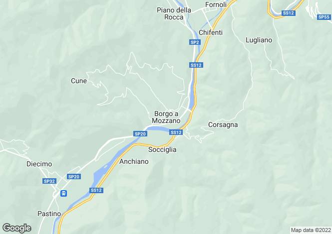 Map for Borgo A Mozzano, Tuscany, Italy