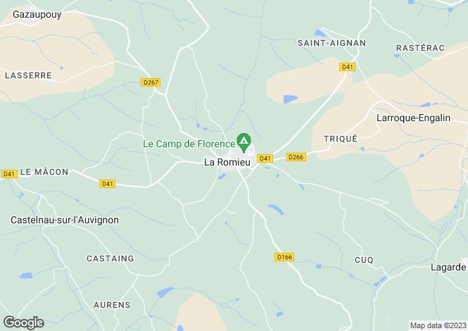 Map for La Romieu, Gers, Midi-Pyrénées