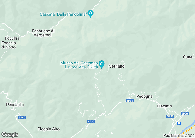 Map for Pescaglia, Lucca, Tuscany
