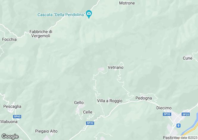 Map for Tuscany, Lucca, Pescaglia