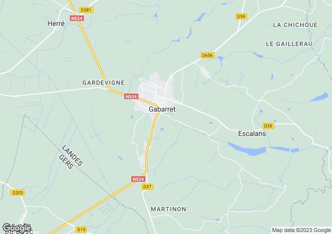 Map for gabarret, Landes, France