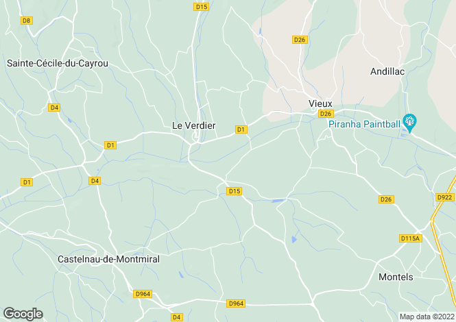 Map for le-verdier, Tarn, France