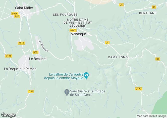 Map for Vénasque (Hors agglomération), 84210, France