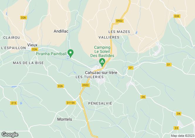 Map for Secteur: Cahuzac-sur-Vère, Tarn