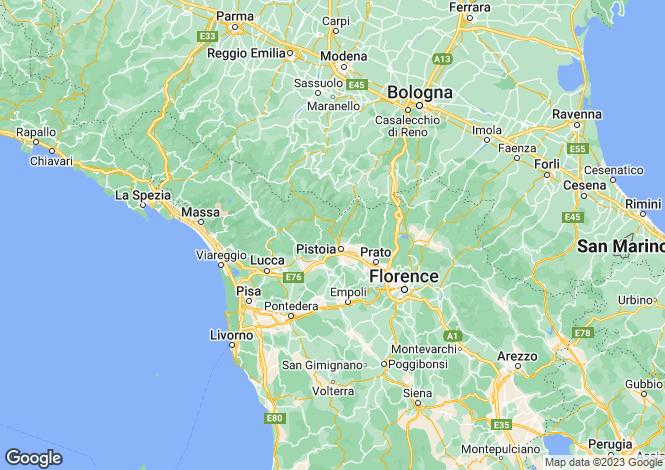 Map for Pistoia, Boggiano, Pistoia, Italy