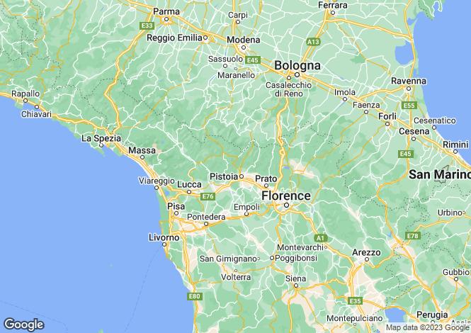 Map for Pistoia, Pesci, Pistoia, Italy