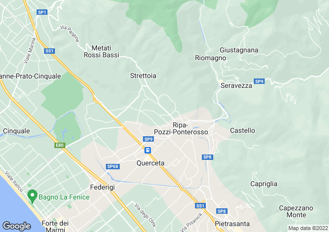 Map for Italy - Tuscany, Lucca, Forte Dei Marmi