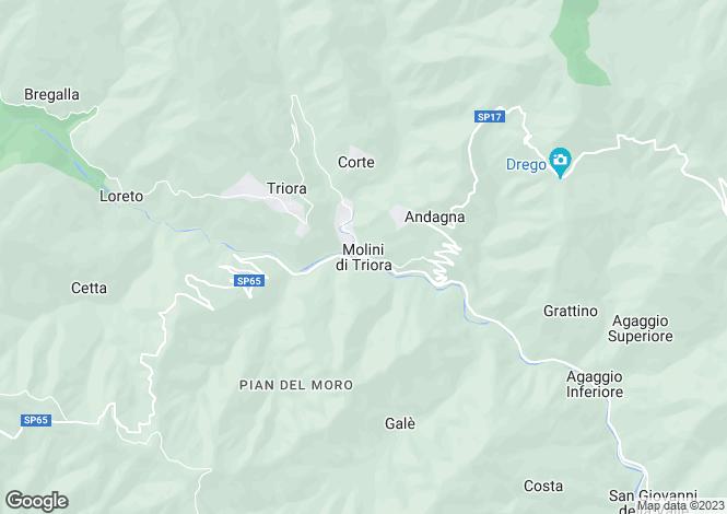 Map for Liguria, Imperia, Molini Di Triora