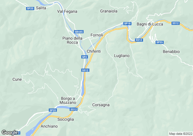 Map for Tuscany, Lucca, Chifenti