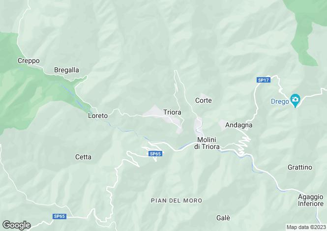 Map for Triora, Imperia, Liguria