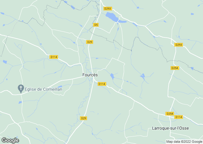 Map for fources, Gers, France