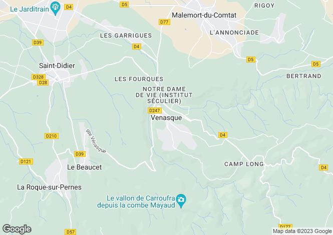 Map for Provence-Alps-Cote d`Azur, Vaucluse, Venasque