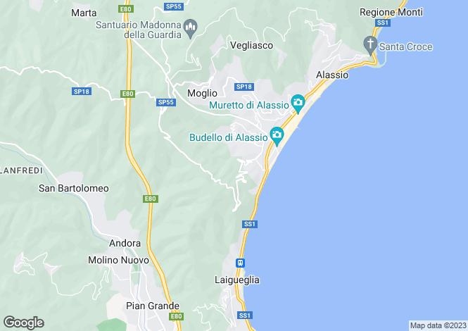 Map for Liguria, Savona, Alassio