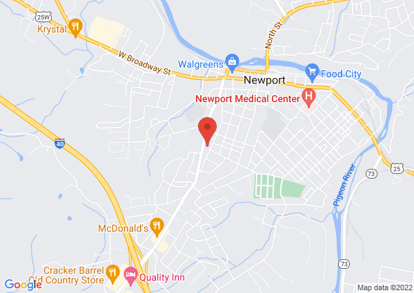 Map of 433 Prospect Avenue, Newport, TN, USA