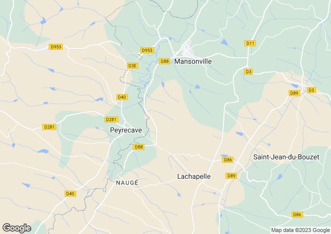 Map for Peyrecave, Gers, Midi-Pyrénées