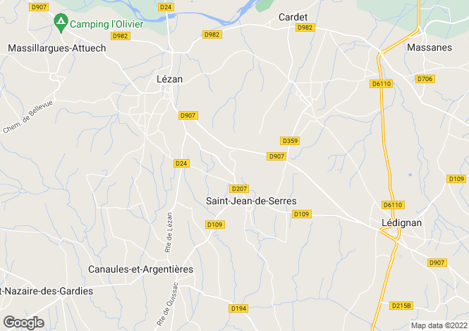 Map for st-jean-de-serres, Gard, France
