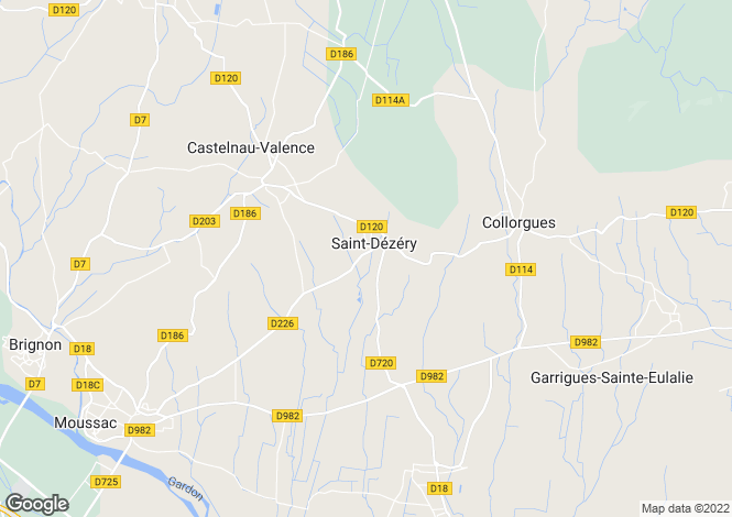 Map for st-dezery, Gard, France