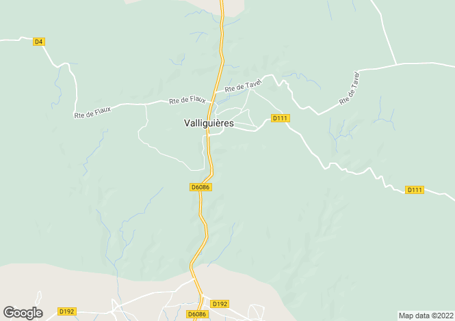 Map for valliguieres, Gard, France