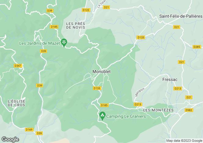 Map for Monoblet, Gard, 30170, France