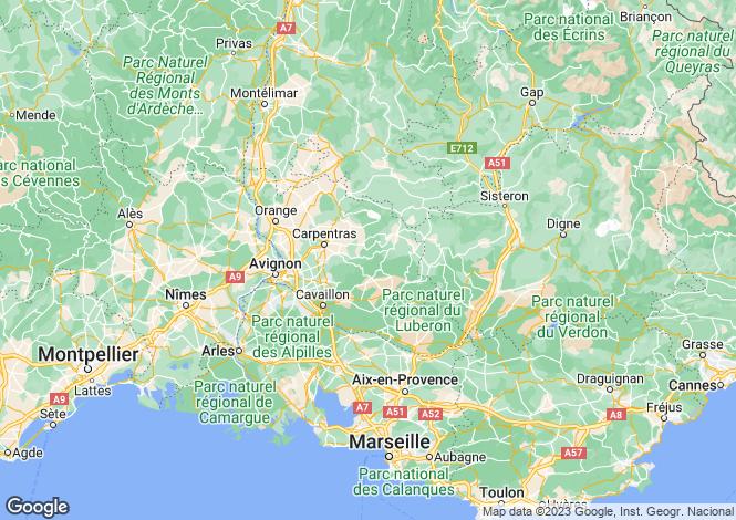 Map for isle-sur-la-sorgue, Vaucluse, France