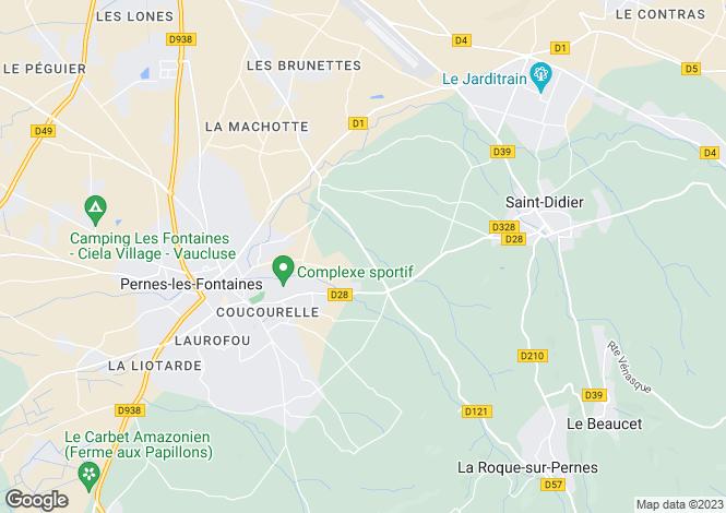 Map for Provence-Alps-Cote d`Azur, Vaucluse, Althen-des-Paluds