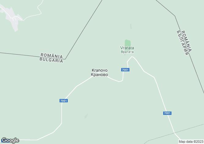Map for Kranovo, Silistra