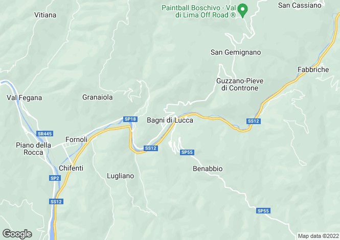 Map for Bagni Di Lucca, Tuscany, Italy