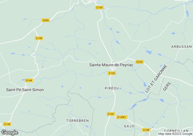 Map for Aquitaine, Lot-et-Garonne, Ste-Maure-de-Peyriac