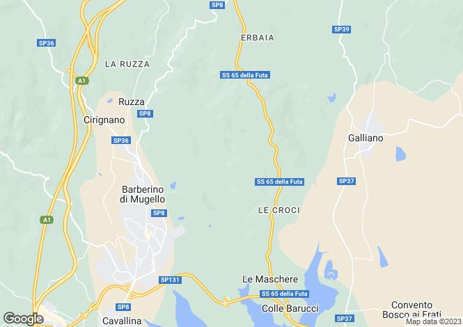 Map for Barberino di Mugello, Florence, Tuscany