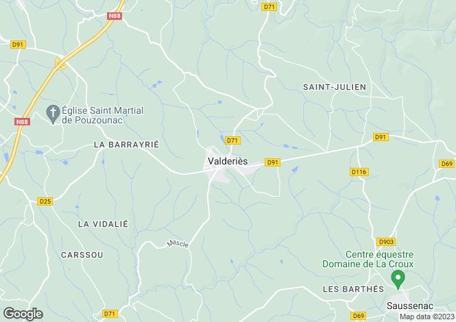 Map for Proche/Near Valderies, Tarn