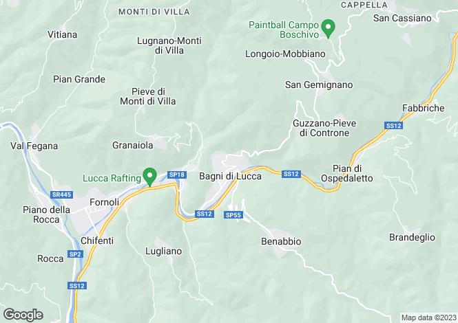 Map for Casa Giugiaro, Corsena, Bagni di Lucca, Italy