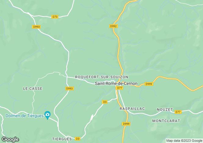 Map for Midi-Pyrenees, Aveyron, Saint-Rome-de-Cernon