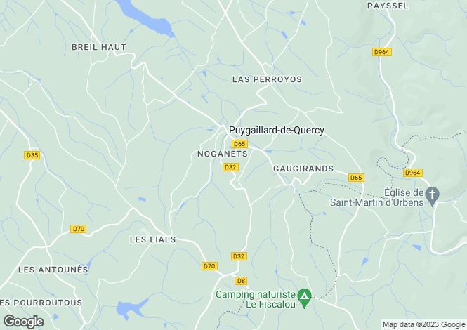 Map for Midi-Pyrenees, Tarn-et-Garonne, Puygaillard-de-Quercy