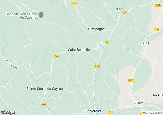 Map for Saint-Beauzile, Midi-Pyrenees, 81140, France